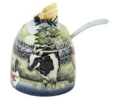 Amazon.com: Old Tupton Ware Farmyard Farm Honey Pot & Spoon Gift: Kitchen & Dining