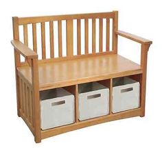 Benches 183321: Kids Storage Bench Toy Organizer Basket Bins Chest Box Family Playroom Furniture -> BUY IT NOW ONLY: $181.93 on eBay!