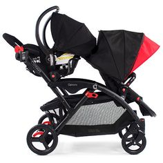 Twin Strollers With Car Seats Stand Double Baby