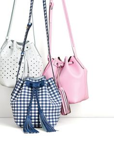 The J.Crew women's mini bucket bag. To pre-order, call 800 261 7422 or email…