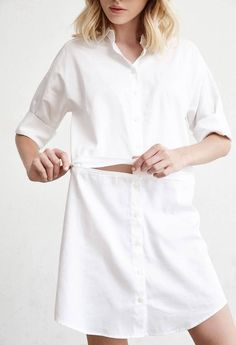 The Convertible Shirt Dress Fall Capsule Wardrobe, Wardrobe Staples, Warm Sweaters, Cashmere Sweaters, Crop Shirt, Shirt Dress, Minimal Wardrobe, Costume Patterns, Warm Outfits