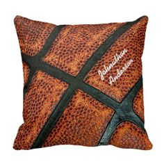 Personalize this old weathered basketball pillow by adding your name. This retro basketball looks awesome with your autograph in a white style signature. This throw pillow just for guys is perfect way to declare that you are a sports fanatic. #sold