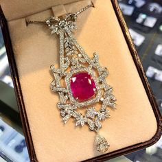 AMAZING 12.04TCW Natural Ruby & Diamonds in by SoPerfectJewelry