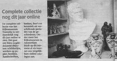 #ENSCHEDE #RijksmuseumTwenthe - complete collectie nog dit jaar online #TcTubantia