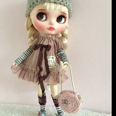 Hand Made Shabby Chic Dress//Outfit for Blythe//Pullips Dress// Licca// Azone Dolls