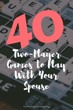 The BEST list of 2-player games I have seen! 40 two-player games to play with your spouse. #marriagegoals #boardgames