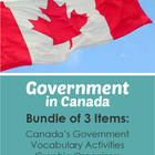 This is a bundle of three of my units on government that are designed for Canadian students in grades 4-6. Each can be bought individually in my s...