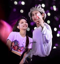 edit time💘… Swag Couples, Kpop Couples, Cute Couples, Bts Girl, Bts Boys, Kim Jennie, Blackpink And Bts, Couple Aesthetic, V Taehyung