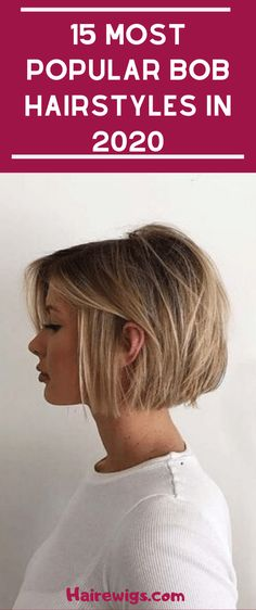 14 Trends Bob Hairstyles and Cups in 2019 # Hairstyles . - Top Trends Short Bobs Haircuts Look Sexy and Charming! Modern Bob Hairstyles, Stacked Bob Hairstyles, Bob Hairstyles For Fine Hair, Hairstyles Haircuts, Blonde Bob Haircut, Chin Length Bob, Bobs For Thin Hair, Bob Styles, Short Hair Cuts