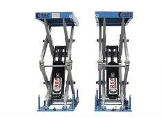 El XT-35A de RSF es un elevador de tijera electro-hidráulico para el servicio de neumática rápida y mecánica.