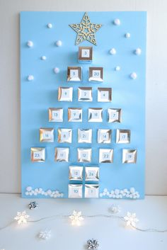 1000 images about calendriers de l 39 avent on pinterest - Calendrier de l avent en forme de sapin ...