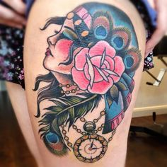 New School Gypsy Tattoo | View More Tattoos Pictures Under: Head Tattoos