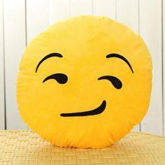 35cm Cute Emoji Smiley Yellow Pillows Cushion Cartoon Facial QQ Expression Yellow Round Decorative Pillows Stuffed Plush Toy