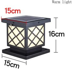 Led Post Lights, Outdoor Post Lights, Outdoor Lamp Posts, Outdoor Ceiling Fans, Patio Lighting, Lighting Ideas, Floor Lanterns, Solar Powered Lamp, Pillar Lights