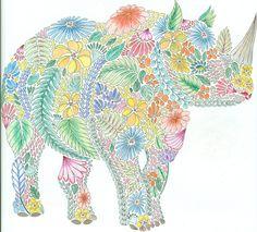 Millie Marotta Animal Kingdom Rhino