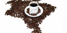 Mapa do Brasil com Café