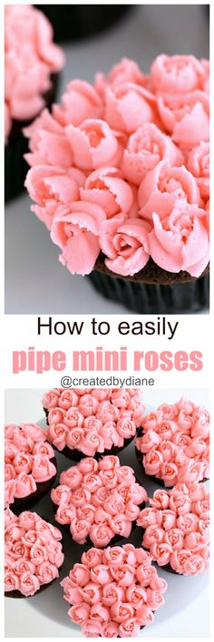 How to easily pipe mini roses @createdbydiane