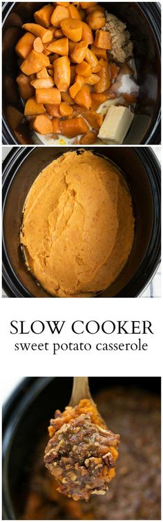 10 minutes prep, made completely in your CROCKPOT! {Slow Cooker} Sweet Potato Ca… 10 minutes prep, made completely in your CROCKPOT! Crock Pot Food, Crockpot Dishes, Crock Pot Slow Cooker, Slow Cooker Recipes, Crockpot Recipes, Cooking Recipes, Healthy Cooking, Healthy Life, Thanksgiving Recipes