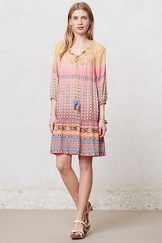 Blushed Spectrum Peasant Dress #anthropologie
