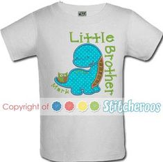 Lt Blue and Lime Green Custom Personalized Applique DINOSAUR ALPHABET and NAME Bodysuit or Shirt