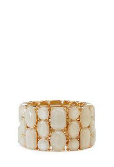 Luxe Faux Gemstone Bracelet | FOREVER21 - 1000124987