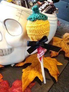 Crochet Pumpkin Sucker Covers Free Pattern