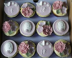 18th Birthday Cupcakes | www.sugarruffles.com/2012/10/18th-b… | Flickr