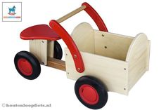 Superschattig! - Woodtoys Classic bakfiets rood-blank