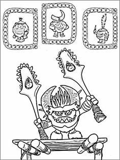 Vaiana - Moana Coloring Pages 3