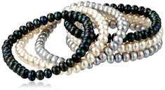 TARA Pearls Dyed Multi-Color Freshwater Cultured Pearl Stretch Bracelet, 6.5-7mm, 3in ** Continue to the product at the image link. (This is an affiliate link) #NiceJewelry