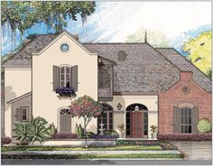 ideas about House Plans Online on Pinterest   Buy House    Michael Campbell Design  LC   Lafayette  Louisiana   Acadian House Plans   Buy House Plans Online