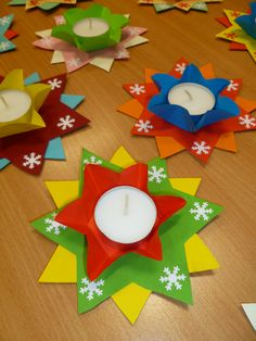- Best DIY and Crafts Ideas Christmas Candle Decorations, Beautiful Christmas Decorations, Christmas Tree Cards, Christmas Activities, Christmas Crafts For Kids, Diy Christmas Ornaments, Christmas Art, Christmas Projects, Handmade Christmas