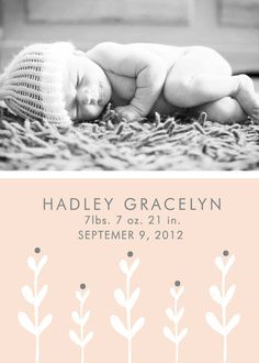 Custom Printable Birth Announcement
