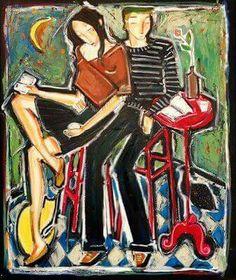 Denis Chiasson, artista contemporáneo, se inspira en personajes de novelas, así como de la observación y de la naturaleza que los rodea. Su obra se caracteriza por líneas fuertes, intensas y angulares, así como por el uso de colores brillantes.