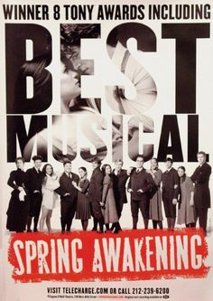 "It would be amazing to be a part of a musical that wins the Tony for ""Best New Musical"" like Spring Awakening, one of my favorite musicals."