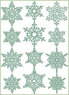 AnnaBoveEmbroidery.com Free Machine Embroidery Designs: Snowflakes In Celtic Style