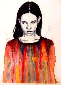 Alise by kakevampyr on DeviantArt Love Drawings, Art Drawings, Human Drawing, People Art, Pics Art, Art Sketchbook, All Art, Creative Art, Amazing Art