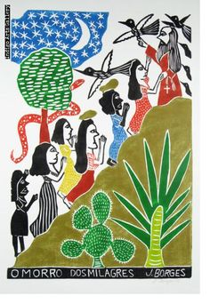 José Francisco Borges (Brazil), Woodcut print on paper x 14 image on x sheet) 2017 Colors and exact design will vary. Artist At Work, Contemporary Art, Folk, Art Gallery, African, Kids Rugs, Prints, Painting, Mermaids