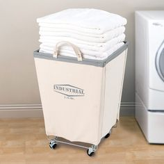Take care of all your laundry needs with the Seville Classics Commercial Canvas Laundry Hamper Cart! Constructed with thick cotton canvas in natural white with a heavy-duty steel frame, this laundry cart Canvas Laundry Hamper, Wicker Laundry Hamper, Laundry Cart, Laundry Sorter, Laundry Room Organization, Laundry Room Design, Laundry Baskets, Laundry Shop, Laundry Bin