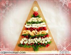 Peynir Ağacı (Christmas Tree Cheese Board)