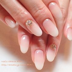 We Love Ombre French Manicure Diamond 45 Gel French Manicure, Nail Manicure, Simple Nail Designs, Nail Art Designs, Ambre Nails, Kawaii Nail Art, Diamond Nails, Crystal Nails, Glam Nails