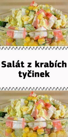 Salát z krabích tyčinek Krabi, Cobb Salad, Entrees, Potato Salad, Sushi, Food And Drink, Potatoes, Snacks, Breakfast