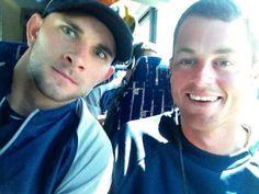 Casper Wells and Charlie Furbush on the team bus!! Seattle Mariners