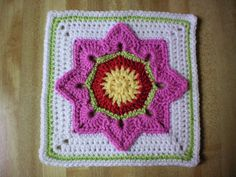 Eight Pointed Flower Square