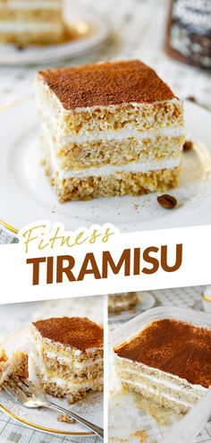 Tiramisu je italský dezert, který si získal obrovskou oblibu po celém světě. Vděčí za to jemné kávové vůni, vláčnosti a jedinečné chuti. V klasické verzi patří ale k nejtučnějším zákuskům a do fitness redukčního jídelníčku zrovna nezapadá. Velice jednoduše jsem ale vytvořila fitness variantu s minimem tuku a cukru nabouchanou bíkovinami. Nejtučnější část – žloutkový mascarpone krém - jsem nahradila tvarohem a nízkotučným krémovým sýrem a místo cukrářských piškotů jsem upekla vlastní piškot. Healthy Desserts, Healthy Recipes, Vanilla Cake, Yummy Treats, Tiramisu, Low Carb, Ethnic Recipes, Fitness, Food
