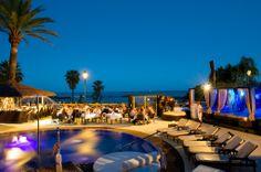 Night at La Sala by the sea beachclub in Marbella - where we got engaged