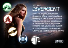 I took Zimbio and AMC Theatre's 'Divergent' quiz, and I'm Divergent! Which faction are you?