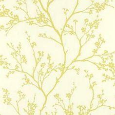 Schumacher Twiggy Soft Chartreuse Wallpaper