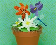 Perler® | Colors of Spring Bring inside the beautiful flowers you might see growing near or in a pond and enjoy them every day! #PerlerBeads #kidscrafts