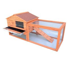 "62"" Wooden Outdoor Rabbit & #Bunny #Hutch - FREE SHIPPING"